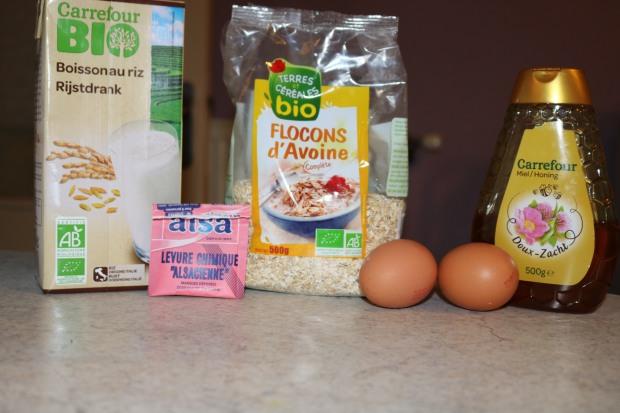 Ingrédients Bowlcake avoine oeufs