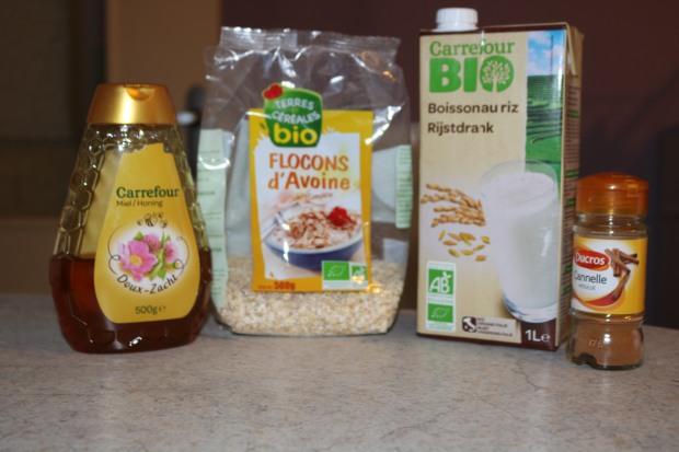 Ingrédients du porridge