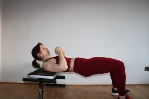 Position initiale du Hip Thrust